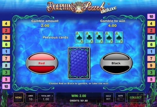 Риск-игра в Dolphin's Pearl Deluxe онлайн