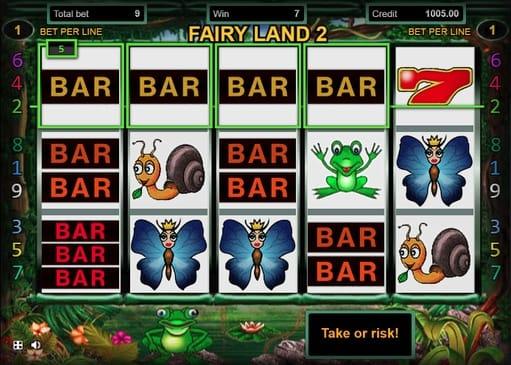 Выигрышная комбинация в Fairy Land 2