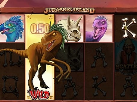 Выигрышная комбинация с диким знаком в Jurassic Island